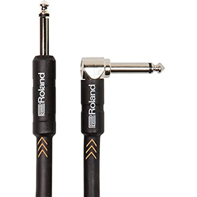 Roland Black Series Instrument Cable Black Angled, Length: 5Ft/1.5M