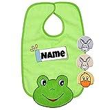 Baby Lätzchen mit Klettverschluss   Baby Latz   bestickt mit Namen   Lätzchen personalisiert  ...