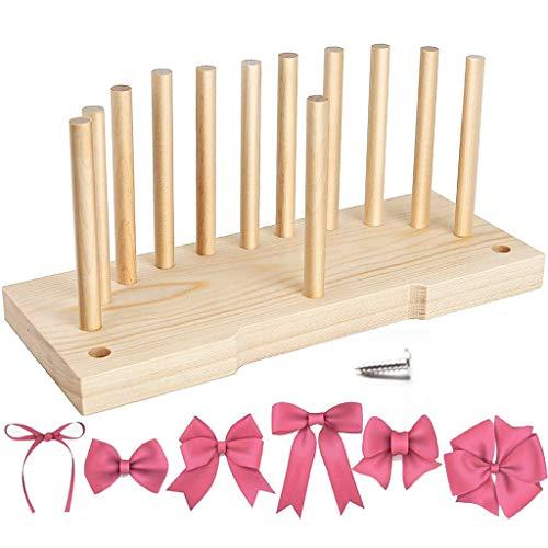 YO-HAPPY Coronas, Máquina para Hacer Lazos Multiusos para Cinta Herramienta de Madera para Manualidades DIY Día de San Valentín
