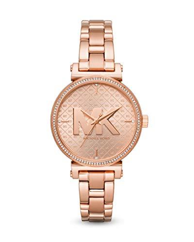 Michael Kors Damen Analog Quarz Uhr mit Edelstahl Armband MK4335