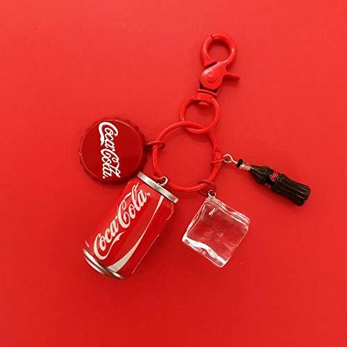 MWBLN Llavero Llavero,Llaveros de celebridades con Colgante de Estilo Coreano, Llavero de Regalo pequeño Creativo con Colgante para Amantes de la Bolsa de Botella de Coca-Cola de Estilo 3