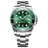 xiaoxioaguo Diseño de la marca de lujo de los hombres reloj automático negro reloj de los hombres de acero inoxidable impermeable de negocios deportes reloj mecánico