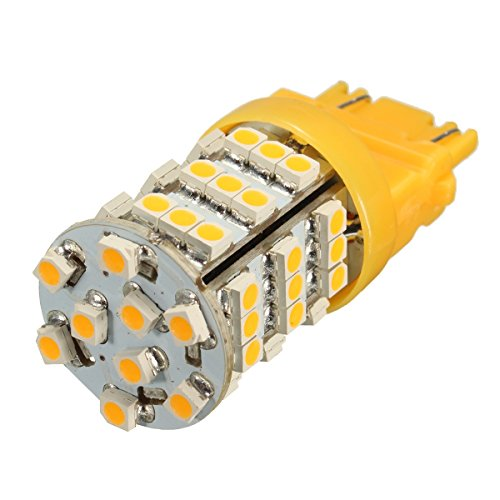 C-FUNN Universal 3157 Ámbar Amarillo 54Smd Led Señal De Giro Parpadeo Esquina Lámpara De Luz Bombilla