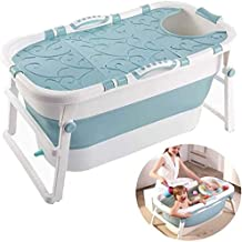 Inklapbare Bathing Tub Non-Slip Portable Folding baby bad for volwassen Baby met Cover Huishoudelijke Plastic Hot Tub Insu...