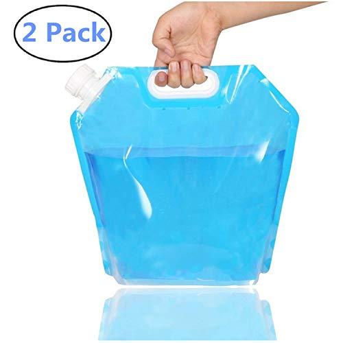 Zusammenklappbarer Wasserbehälter, einfrierbar, BPA-frei, Kunststoff, für Sport, Camping, Reiten, Bergsteiger, Lebensmittelqualität, 2 Stück