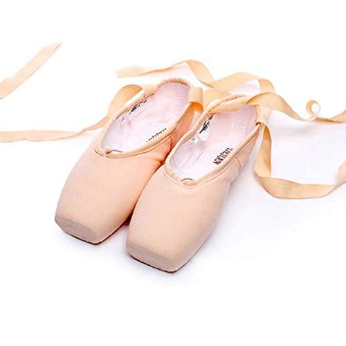 AZLLY Satijn Ballet Pointe Schoenen Professionele Meisjes Dames Ballerina Dans Schoenen met Linten