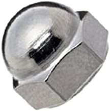 Steel Acorn Nut, Nickel Plated Finish, Right Hand Threads, #10-24 Threads (Pack of 100)