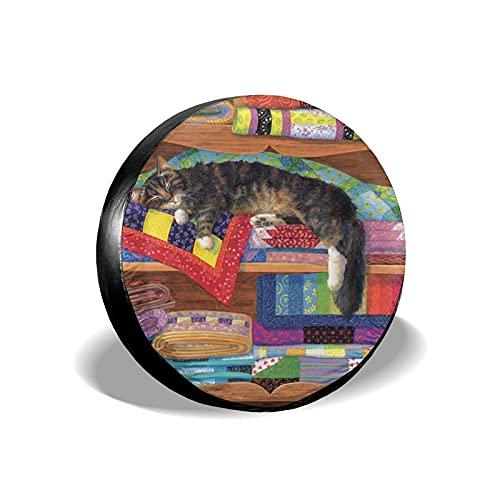Tcerlcir Cubierta Universal de Ruedas de Repuesto Funda Protectora Gato de Armario Impermeable para Remolques, Casas Rodantes, SUV y Otros 14'/15'/16'/17'