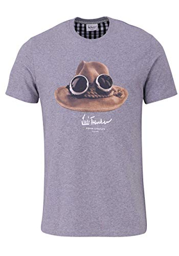 Luis Trenker T-Shirt HA mgrau Größe XXL