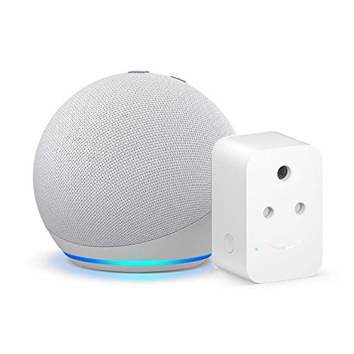 Echo Dot (4th Gen, White) Combo with Amazon Smart Plug