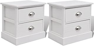 French Bedside Cabinets (2 Pcs) - White