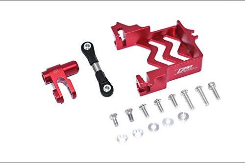 GPM for TRAXXS 1/5 X-MAXX 6S/8S Monster Truck Aluminum SERVO Mount +Stainless Steel TIE Rod+25T Aluminum SERVO Horn -16PC Set (red)