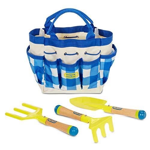 little tikes 656460EUC wachsende Gartenwerkzeuge & Tasche – Outdoor-Spaß für Kleinkinder – Lern-und aktives Spielen – inklusive Schaufel, Rechen und mehr – ab 3 Jahren, Handwerkzeuge und Tasche