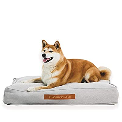 """Chasing Winter Memory Foam Platform Dog Bed, Medium Grey 