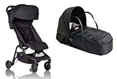 Infant ready with included BONUS soft shell cocoon carrycot for newborns!! Large Canopy with flip-out visor. New, narrower compact size at just Dimension - 12 x 22 x 20 inches (Folded) with 44 lb. weight capacity and suitable for children up to 4 yea...