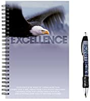Successories 741297 Excellence Eagle Spiral Notebook with Matching Pen [並行輸入品]