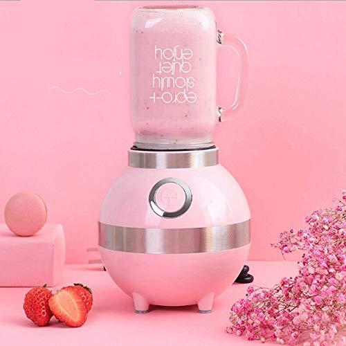 TYZY Entsafter Haushaltskochmaschine Vierfarbig optional Doppelrührblatt Perfekt zum Brechen von Eiern, Fleisch, EIS, Gemüse,Pink