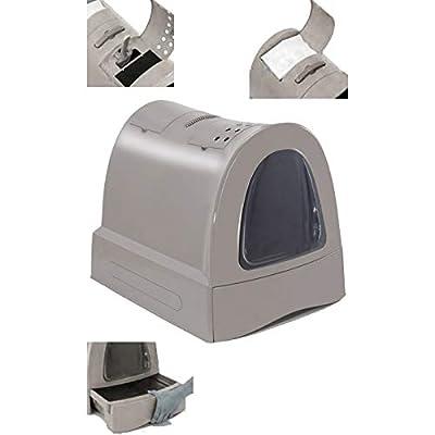 Imac Hygienic Tray Sandbox Cats - Sanitary Tray Catera Sandbox Covered Sandbox WC Cats Zuma 40 x 42.5 x 56 cm Gray