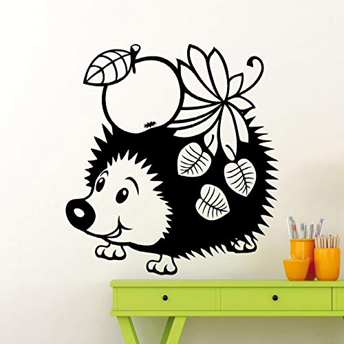 Geiqianjiumai Leuke kleine egel met fruit blad poster thuis muur kinderkamer zoete kunst serie behang
