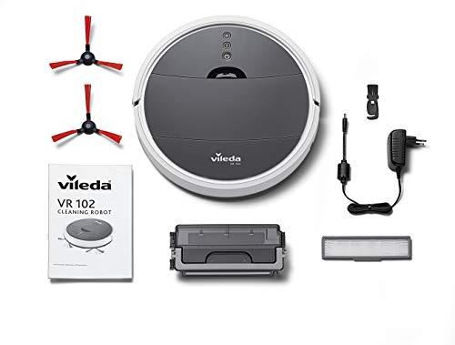 Vileda VR 102 Saugroboter (mit extra-langer Laufzeit und XL-Saugöffnung), weiß - 7