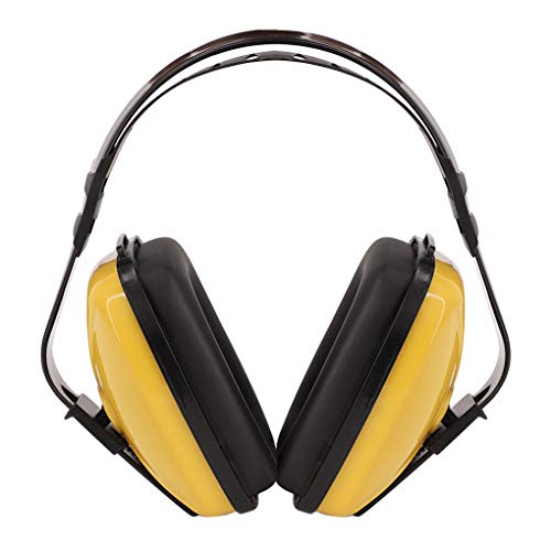 Soundproof Earmuffs for Adults Children Noise Canceling Hearing Protection Headphones Adjustable Padded Defender Noise Reduction Prevention Ear Protection Safety Earmuff Ear Protector Earplug (Yellow)