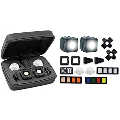 Lume Cube 2.0 - Professional Lighting Kit, 22-Piece LED Lighting Kit with Diffusion and Gels for On & Off Camera Video and Photography