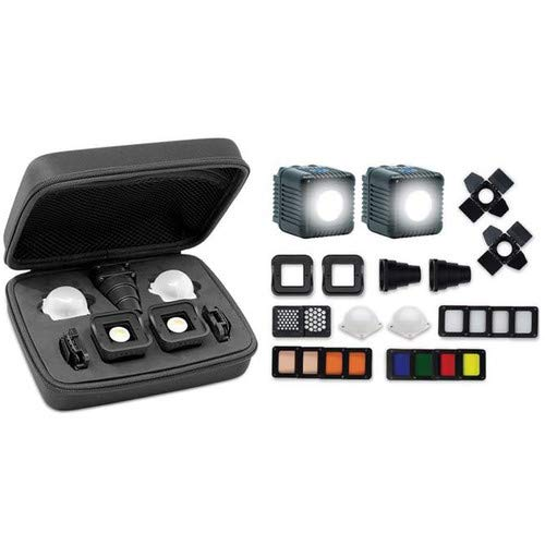 Lume Cube 2.0 Professional Lighting Kit | 20-Piece LED Lighting Kit with Diffusion and Gels | for Photo and Video, Content Creation | for Sony, Nikon, Panasonic, Fuji, Canon, GoPro, Drones