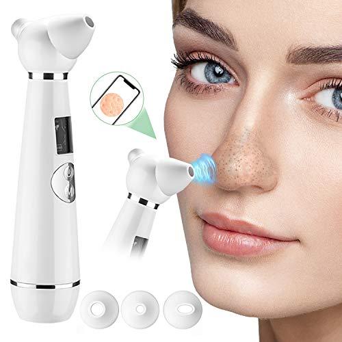 KITEOAGE Mitesserentferner Pickelsauger Elektrisch Mitesser Sauger Porenreiniger mit Drahtlose sichtbare Kamera Mitesser Entferner Gesichtsreinigungsgerät