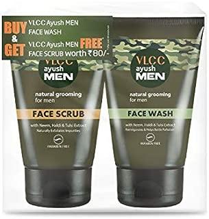 VLCC Ayushmen Cleansing and Scrubing Combo, 100 g with Free Ayushmen Scrub, 50 g