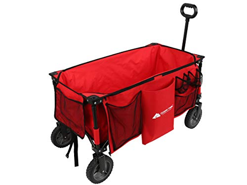 Ozark-Trail Folding Wagon, Red