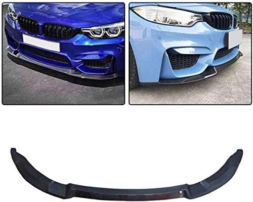 Liu xinling Adecuado para BMW F80 M3 Sedan F82 F83 M4 Coupé Cabrio 2014-2018 Cubierta De Alerón De Parachoques Delantero De Fibra De Carbono