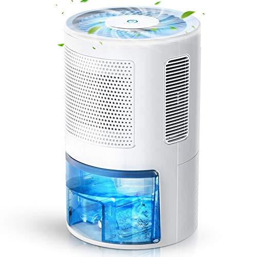 LONOVE Luftentfeuchter Tragbarer Entfeuchter Elektrisch - 1800ML Raumentfeuchter Lufttrockner Mit Ablaufschlauch, Dehumidifier für Schlafzimmer Badezimme Garage, Luftentfeuchter Bereich bis zu 38㎡