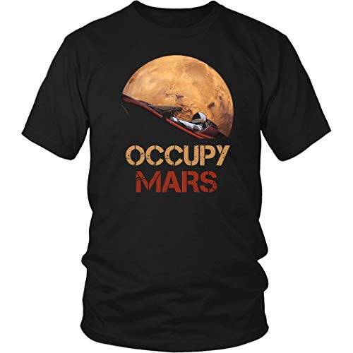占領地の火星スターマンSpacexユニセックスTシャツ