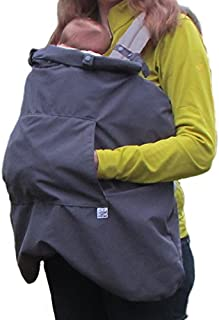 Little Goat 3-Season Baby Carrier Cover for Rain and Cold Weather (Pewter/Pink)