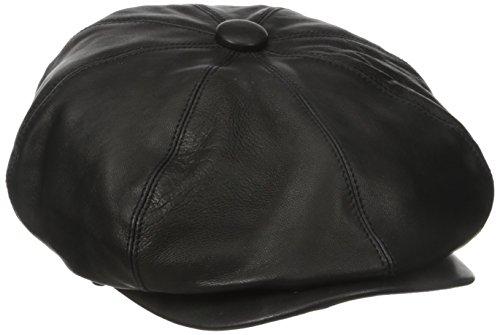 Village Hats Casquette Gavroche en Cuir Noclin Bailey - Medium