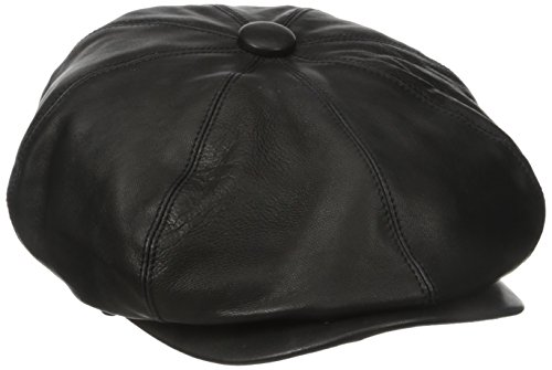 Village Hats Casquette Gavroche en Cuir Noclin Bailey - Medium