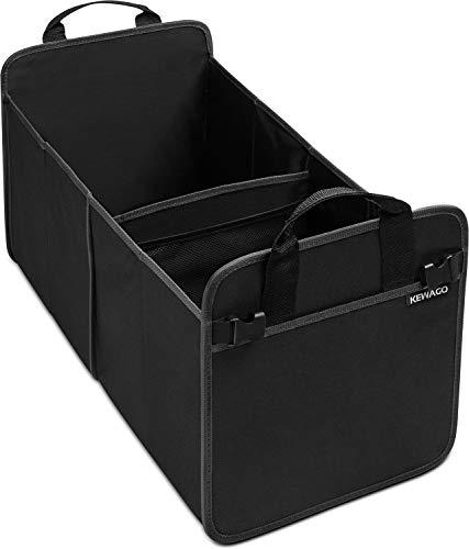 KEWAGO Kofferraumtasche und Auto Kofferraum Organizer. Autotasche und Autobox. Faltbox stabil, praktisch und platzsparend – Zubehör für Camping, Kinder und Einkauf. Eine Klappbox für alle Fälle