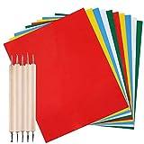 AFUNTA 10 piezas de papel de transferencia con 5 piezas de lápiz óptico de doble punta p...