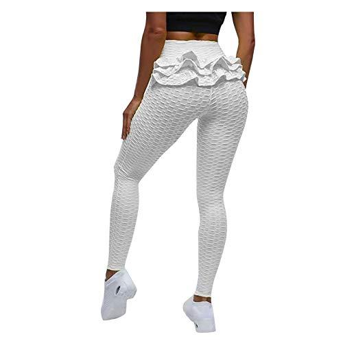 Qbesio Pantalones de Yoga de Burbuja para Mujer, para Ejercicio de Levantamiento de Cadera, para Correr, de Cintura Alta Deporte Adelgazantes