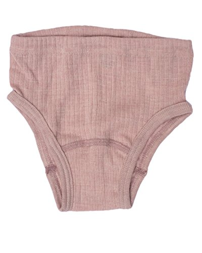 Cosilana, Kinder Slip/Unterhose hoher Beinausschnitt, 45% KBA Baumwolle, 35% kbT Wolle, 20% Seide (92, Pink Meliert)