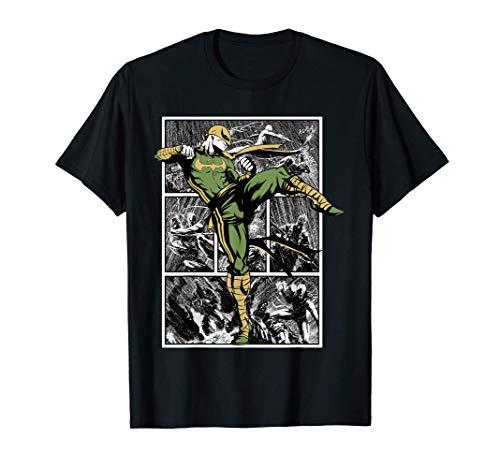 Marvel Iron Fist Rain Battle Camiseta