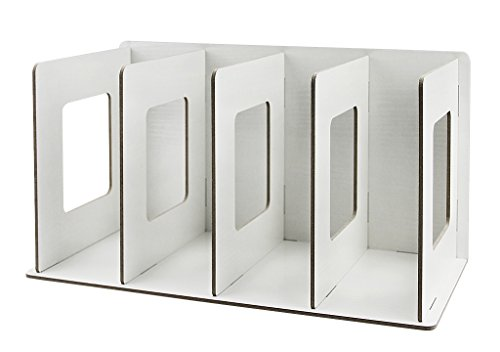 Stehsammler Abnehmbar Stehordner Zeitschriftensammler aus Holz DIY Archivsammler Schreibtischorganizer mit 4 Fächer Katalogsammler für Buch Magazin CD Halter