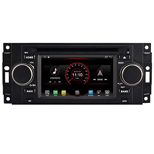WGFGXQ Android 10 Car DVD Player GPS Stereo Head Unit Navi Radio Multimedia WiFi para Chrysler PT Cruiser Jeep Compass Grand Cherokee Commander Patriot Dodge RAM Charger