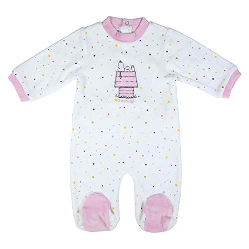 CERDÁ LIFE'S LITTLE MOMENTS 2200006141_T01M-C70 Ropa Bebé Snoopy - Licencia Oficial Peanuts, Rosa, 1 Mes para Bebés