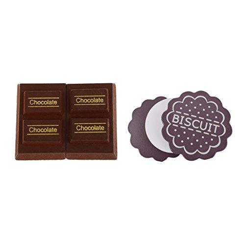 Non brand Sharplace Gioco Magnete Collegato Cioccolato Latte Biscotto Cibo Legno Multicolori