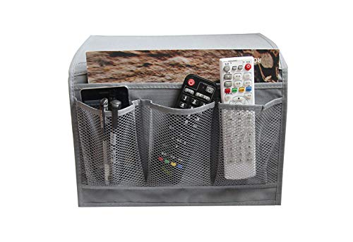 Smilesun Bedside Storage Organizer Bedside Caddy Sofa Storage Organizer Table Cabinet Storage Organizer for Tablet Magazine Phone Remotes - All Within Arms Reach (Grey)