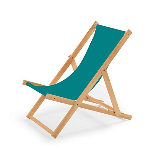 IMPWOOD Gartenliege aus Holz Liegestuhl Relaxliege Strandstuhl (Türkis)