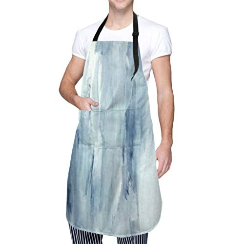 LINPM Unisex Schürze, wasserdicht langlebig verstellbar beruhigend minimalistisch abstrakt Malerei skandinavischen Stil Kochschürzen Kunst Schürze für Geschirrspülen Grill Grill Garten