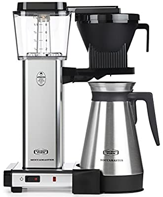 Technivorm Moccamaster 79312 KBGT Coffee Brewer, 40 oz, Polished Silver