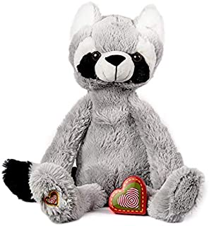 My Baby's Heartbeat Bear - Vintage Stuffed Raccoon with a 20 Second Voice/Sound Recorder Keeps Your Baby's Ultrasound Heartbeat Safe! - Vintage Raccoon